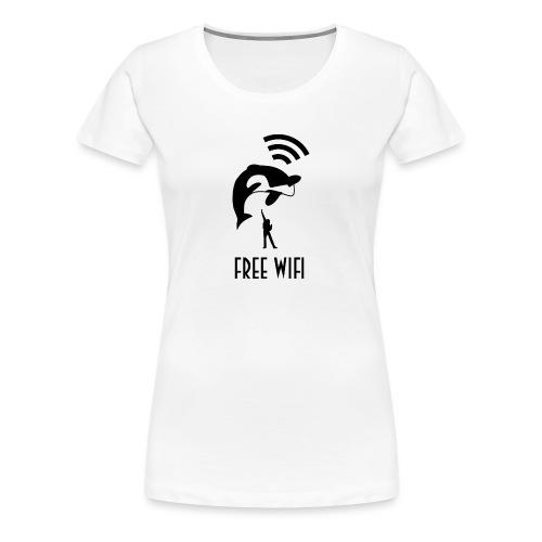 Free Wifi vrouwen premium - Vrouwen Premium T-shirt