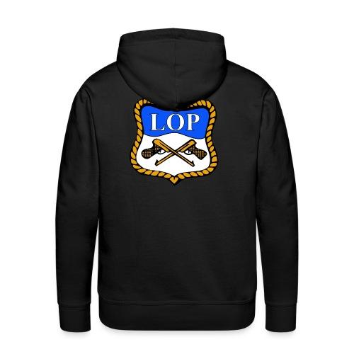 Sort hettegenser med LOP logo rygg - Premium hettegenser for menn