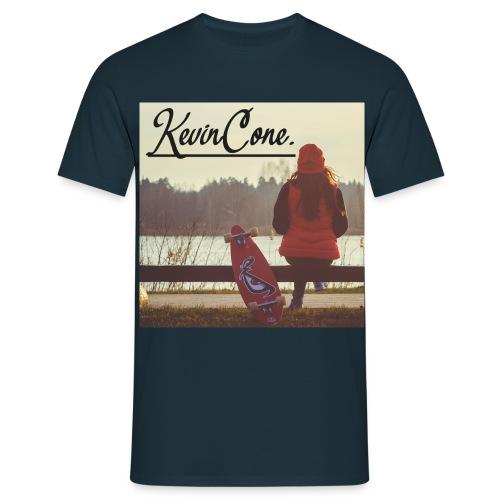 HERREN KevinCone.Print-Shirt | Navy - Männer T-Shirt