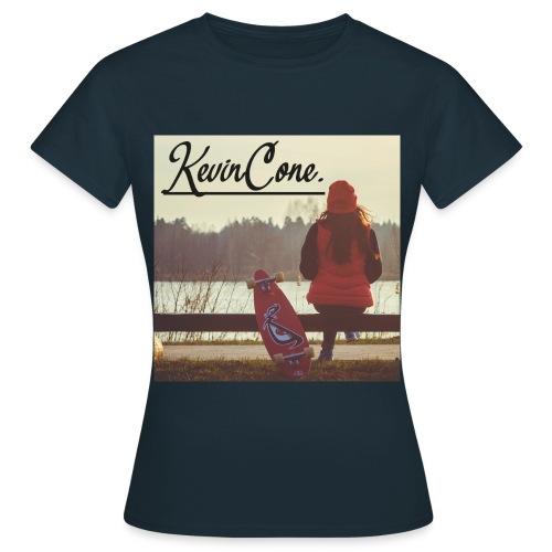 DAMEN KevinCone.Print-Shirt | Navy - Frauen T-Shirt
