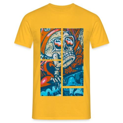 Mushroom Skull Shirt (yellow) - Männer T-Shirt