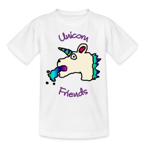 Unicorn Friends Original (African Child) - Kids' T-Shirt