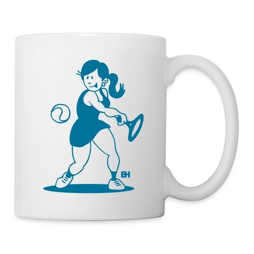 Tennis meisje slaat een backhand Mokken & toebehoor - Mug