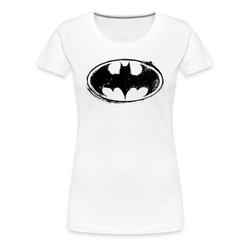 Batman Logo white milky - Frauen Premium T-Shirt