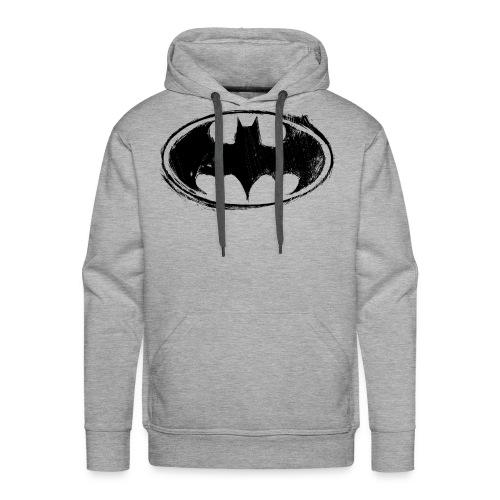 Batman Logo white milky - Männer Premium Hoodie
