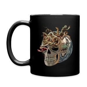 Kaffeetasse Skull with Snakes - Tasse einfarbig