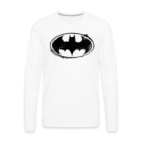 Batman Logo white milky - Männer Premium Langarmshirt