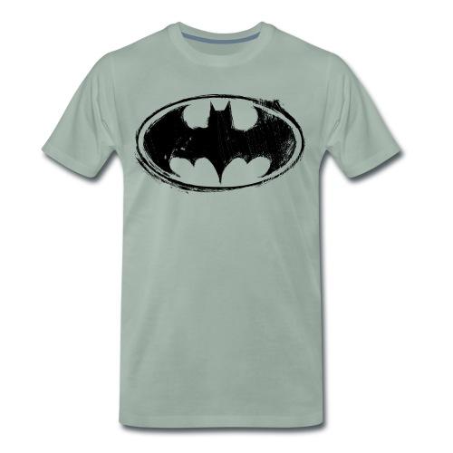 Batman Logo white milky - Männer Premium T-Shirt