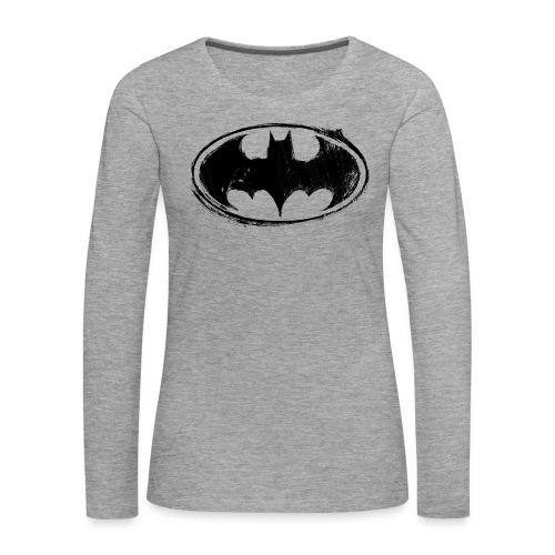 Batman Logo white milky - Frauen Premium Langarmshirt