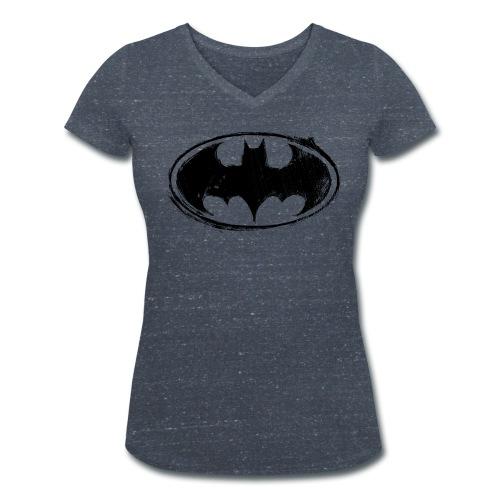 Batman Logo white milky - Frauen Bio-T-Shirt mit V-Ausschnitt von Stanley & Stella