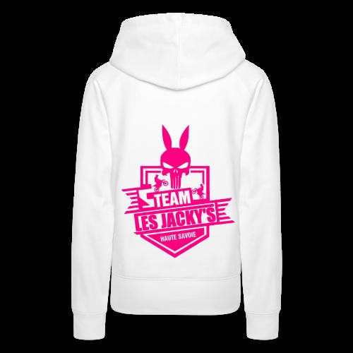 Pull Girl Les jacky's Logo rose - Sweat-shirt à capuche Premium pour femmes