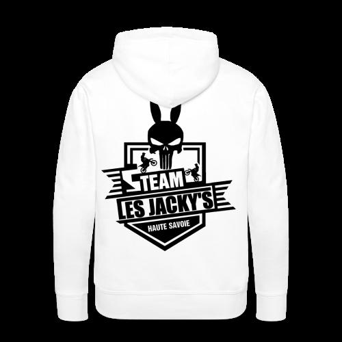 Pull Les jacky's Logo noire - Sweat-shirt à capuche Premium pour hommes