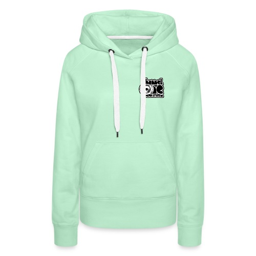 Channel One - front and back logo - ladies - Women's Premium Hoodie