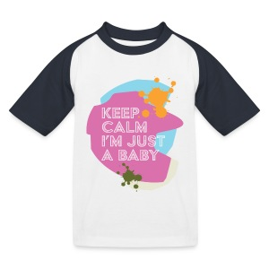 Keep Calm i'm just a baby - T-shirt baseball Enfant