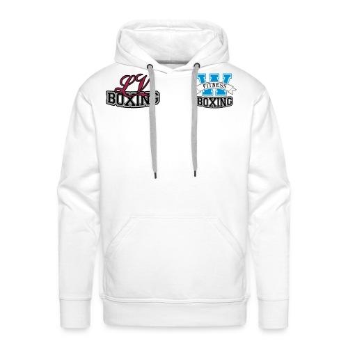 Wit Mannen Jack met kleur logo - Mannen Premium hoodie