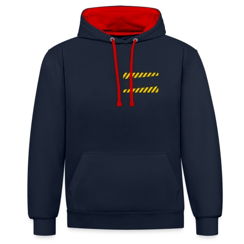 mind and body hoodie - Contrast Colour Hoodie