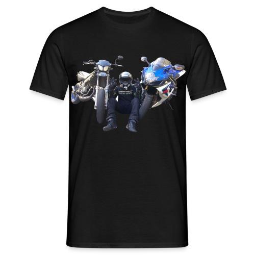 T-shirt MiksRide profil et logo couleur  - T-shirt Homme