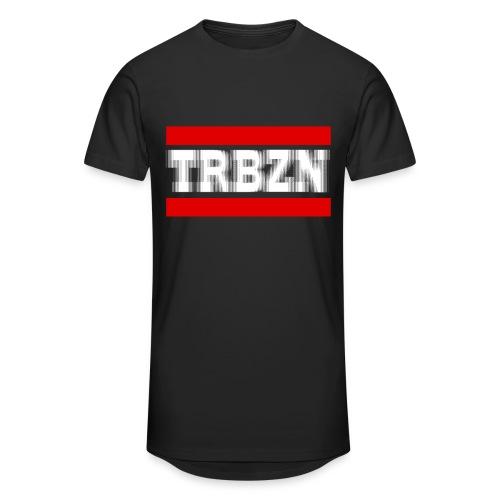 TRBZN - KING No1 - inkls. Rückenbeschriftung -  Herren Tshirt - Lang - Schwarz - Männer Urban Longshirt