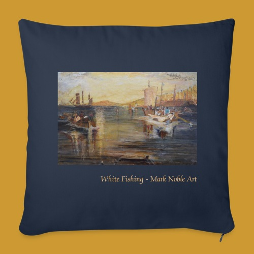 White Fishing - Mark Noble Art - Sofa pillow cover 44 x 44 cm