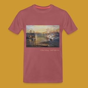 White Fishing - Mark Noble Art - Men's Premium T-Shirt