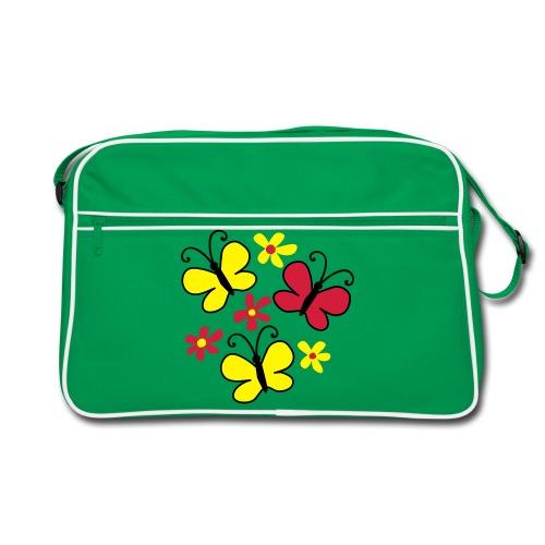 Retro Tasche Schmetterlinge - Retro Tasche