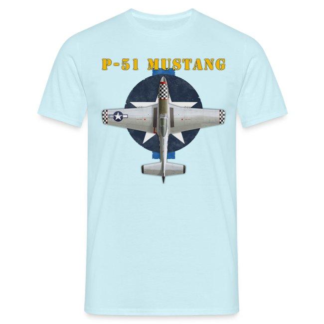 """""""P-51D Mustang"""" - Man's T-Shirt"""