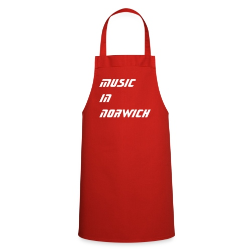 music in norwich apron red - Cooking Apron