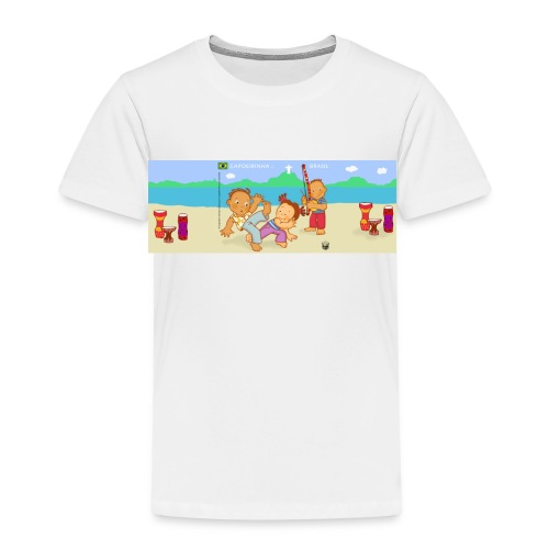Capoeirinha na Praia | Capoeirinha on the beach - Kids' Premium T-Shirt