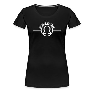 Belfast Vape Bar  Women Shirt (black) - Women's Premium T-Shirt