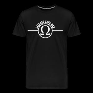 Belfast Vape Bar shirt (black) - Men's Premium T-Shirt