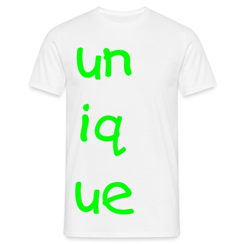 unique white tee - Men's T-Shirt