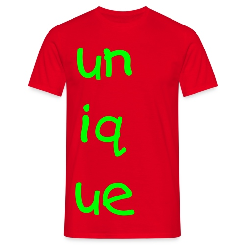 unique red tee - Men's T-Shirt