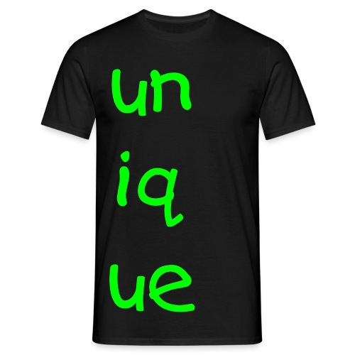 unique black tee - Men's T-Shirt