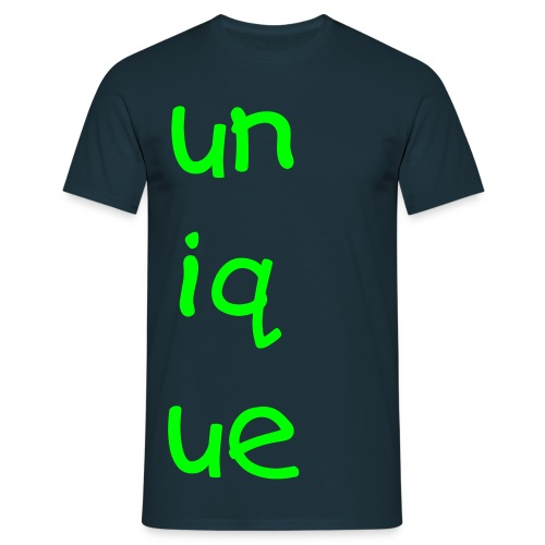 unique navy blue tee - Men's T-Shirt