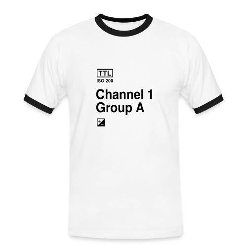 Fotografen Retro-Shirt. Strobist - Männer Kontrast-T-Shirt
