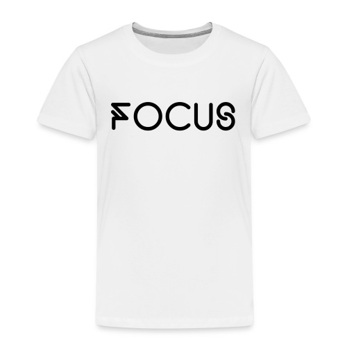 Focus Basic T-shirt White - Kinderen Premium T-shirt