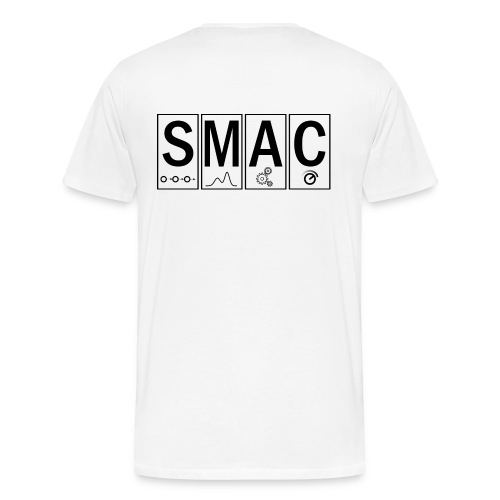 ML4AAD (front) SMAC (back) - Men's Premium T-Shirt