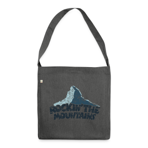 Rockin' the Mountains (Vintage/Dunkel) Recycling Tasche - Schultertasche aus Recycling-Material