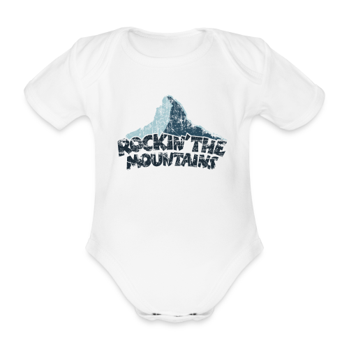 Rockin' the Mountains (Vintage/Dunkel) Babybody - Baby Bio-Kurzarm-Body
