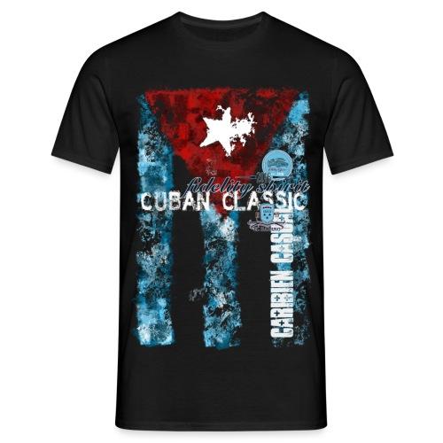 Cuban Classic Flag Stamped - Männer T-Shirt