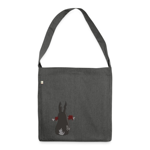 Zombie bunny No. 2 - Schultertasche aus Recycling-Material