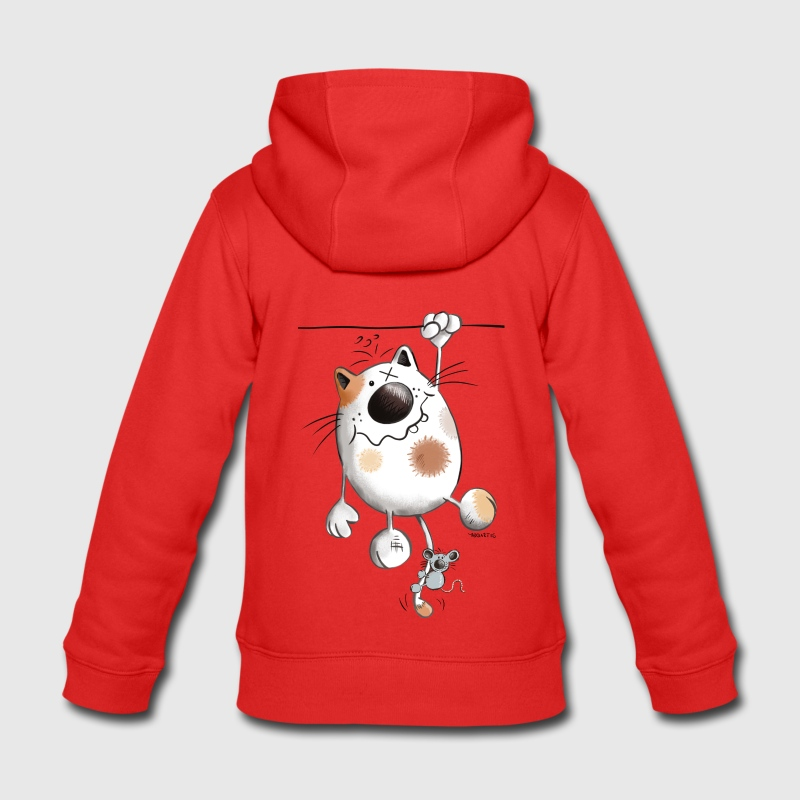 Felpa con zip per bambini con divertente gatto spreadshirt for Felpa con marsupio porta gatto