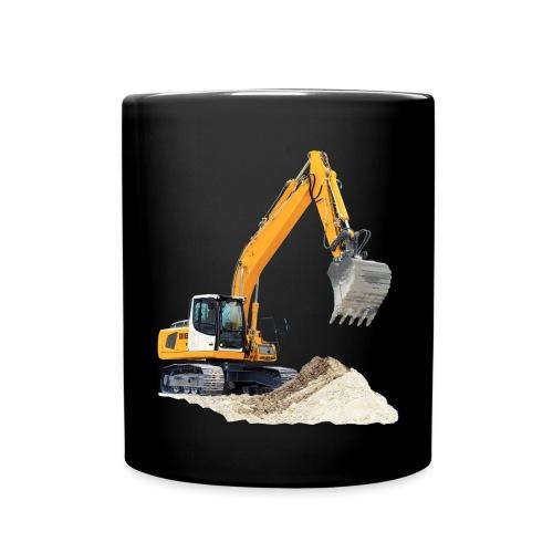 Kopp med gravemaskin  - Ensfarget kopp