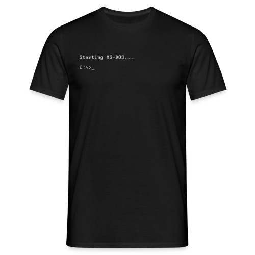 PC Dos starting - T-shirt Homme