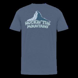 Rockin' the Mountains (Vintage/Hell) S-5XL T-Shirt - Männer Premium T-Shirt