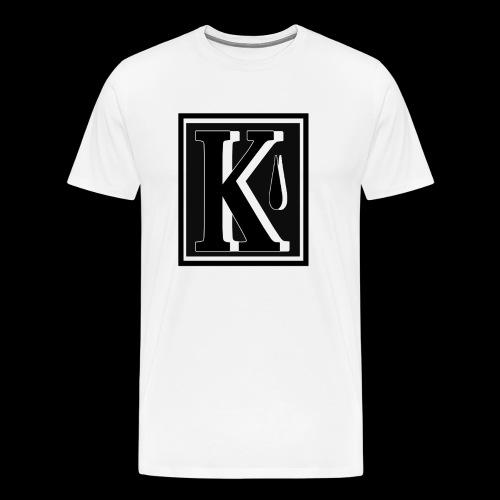 K - Miesten premium t-paita