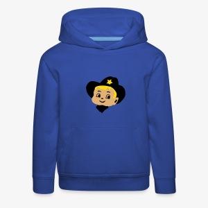 Retro Kid Billy Cowboy Kindertrui by Patjila - Kids' Premium Hoodie
