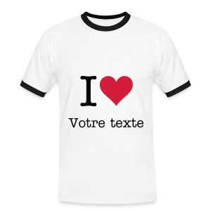 T-shirt supporter i love - T-shirt contrasté Homme