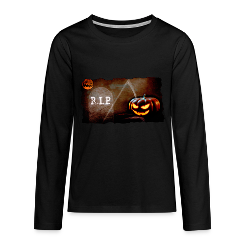 Halloween schauriger Friedhof - Teenager Premium Langarmshirt