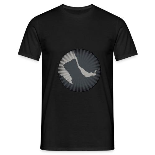 Wirral Retro Men's T-Shirt (Black) - Men's T-Shirt